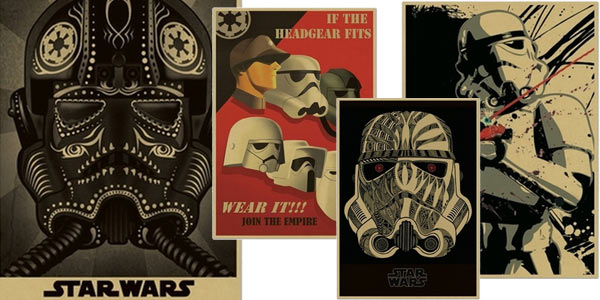 Pósters de Star Wars imitando carteles de alistamiento