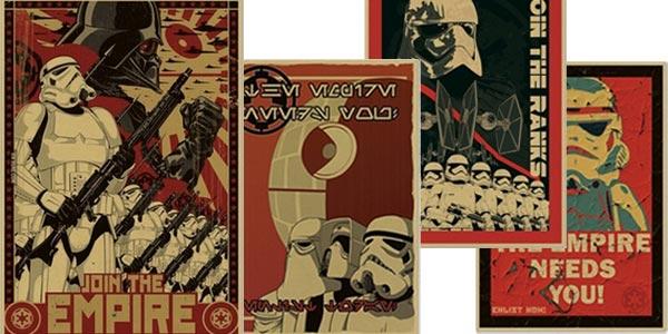 Carteles de alistamiento Star Wars con varios modelos
