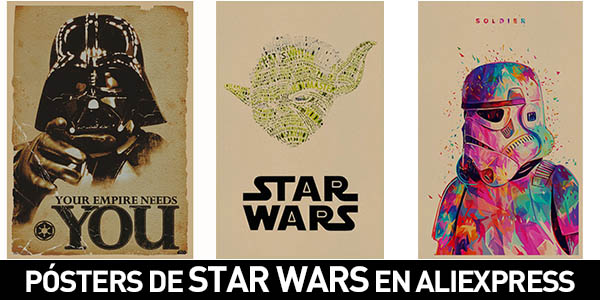 Pósters Star Wars en AliExpress