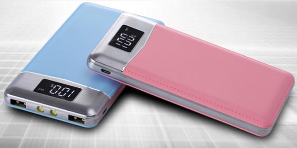Batería portátil de 30.000 mAh con 2 puertos USB