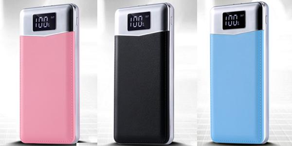 Batería portátil de 30.000 mAh con 2 puertos USB barata