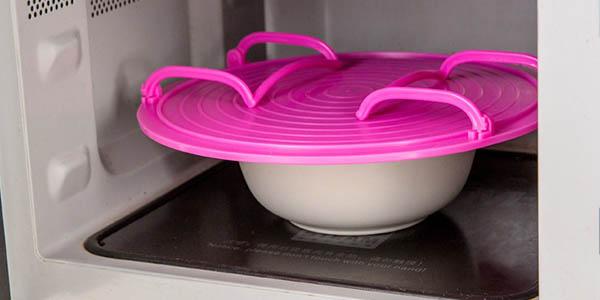 tapa bandeja separador platos para microondas