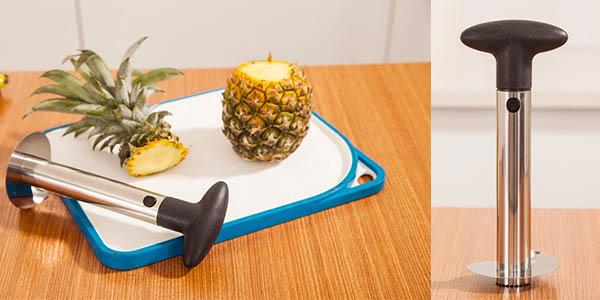 practico utensilio para cortar piña facilmente