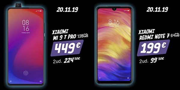 Móviles Xiaomi con la 2ª unidad 50% de descuento