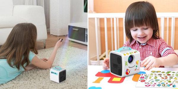 Mini proyector de vídeo, imágenes y sonido infantil Excelvan Q2 chollo en Gearbest