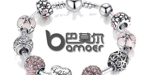 Pulsera de abalorios Bamoer estilo Pandora