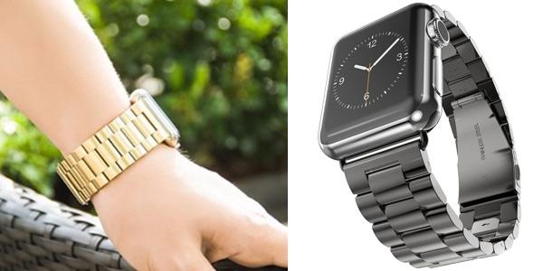 Correa de acero inoxidable para Apple Watch chollazo en AliExpress
