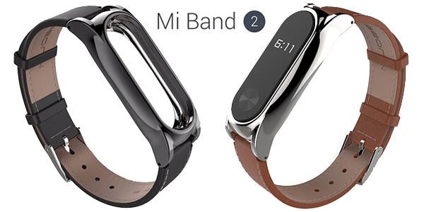 Correa de cuero (PU) para Xiaomi Mi Band 2