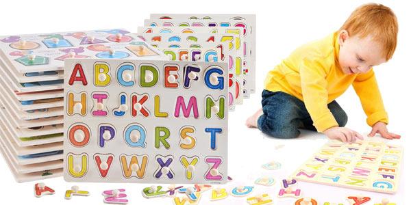 Juguetes educativos de madera formas, números o letras baratos en AliExpress