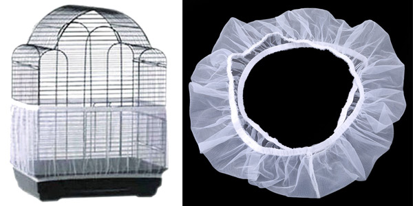 Cubierta para jaula de pájaros de tela de malla en AliExpress