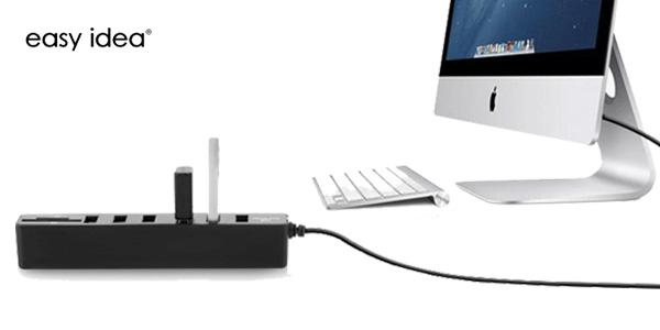 Combo HUB EasyIdea 3 puertos USB 2.0 y lector de tarjetas chollazo en AliExpress