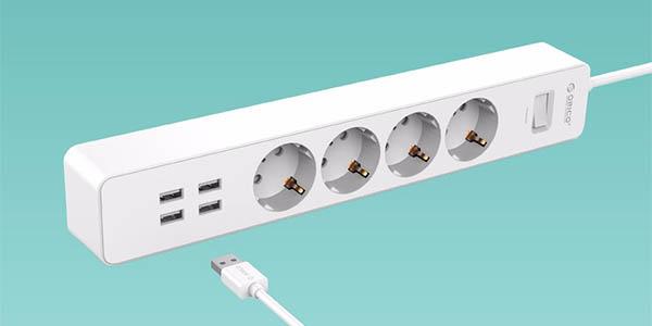 Regleta ORICO de 4 tomas + 4 USB