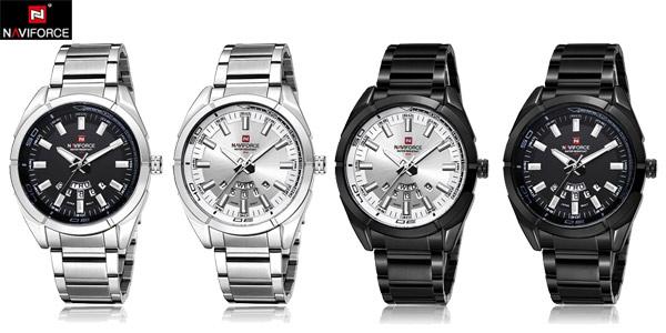 Reloj analógico Naviforce 9038 para hombre barato en AliExpress