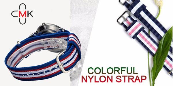 Reloj CMK para mujer con correa de nailon multicolor en AliExpress