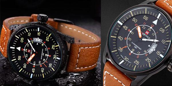 Reloj de cuarzo Naviforce 9044 de acero para hombre en oferta