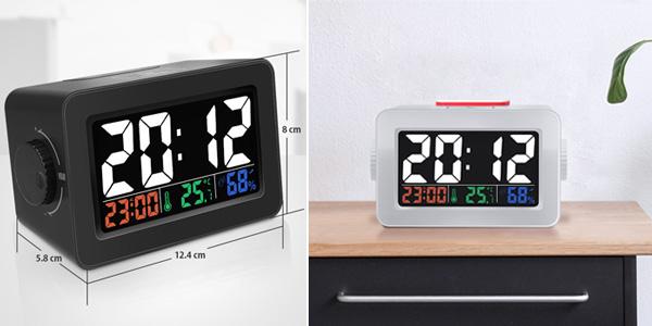 Reloj despertador Digoo DG-C1R con estación meteorológica barato en BangGood