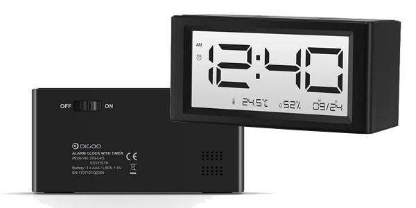 Reloj despertador Digoo DG-C4S barato en BangGood
