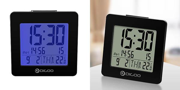 Reloj despertador Digoo con termómetro