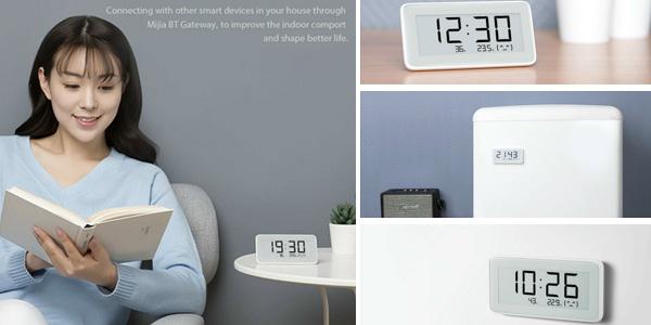 Reloj digital / Termómetro Xiaomi Mijia con pantalla de tinta electrónica barato en Banggood