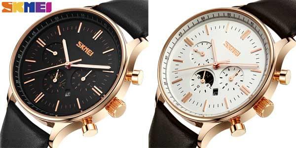 Reloj de pulsera SKMEI sumergible y con calendario barato en AliExpress