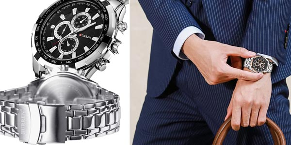 Reloj analógico Curren con movimiento de cuarzo para hombre chollo en AliExpress