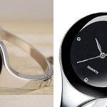 Reloj de acero inoxidable para mujer