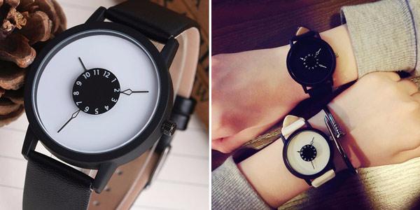 Reloj de pulsera unisex de estilo minimalista en AliExpress