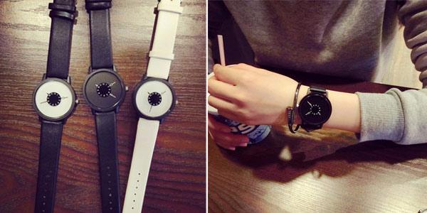 Reloj de pulsera unisex de estilo minimalista barato