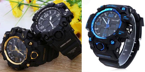 Reloj de pulsera digital Skmei 1155 LED en varios colores rebajado