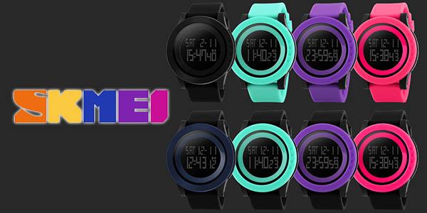 Reloj digital LED SKMEI en varios colores