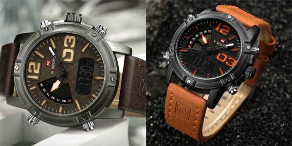 Reloj Naviforce 9095 con correa de cuero PU