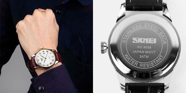 Reloj Skmei para hombre con correa de cuero