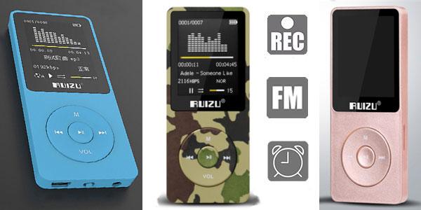 Reproductor MP3 RuizuX02 con radio FM y grabadora voz en varios colores rebajado