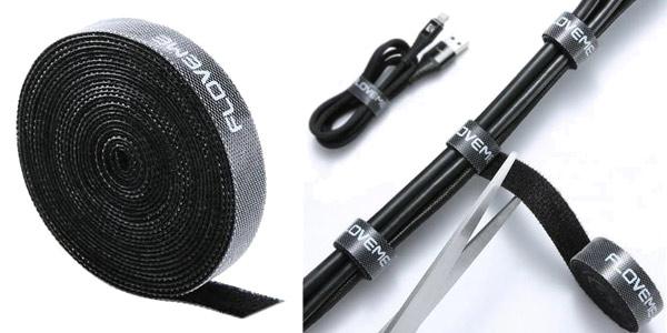 Tira de velcro recortable Floveme para sujetar cable de 1, 3 o 5 metros chollo en AliExpress