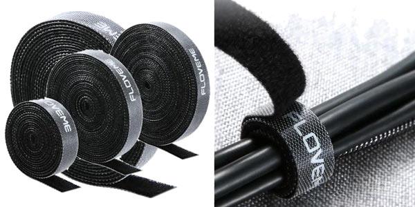 Tira de velcro recortable Floveme para sujetar cable de 1, 3 o 5 metros barata en AliExpress