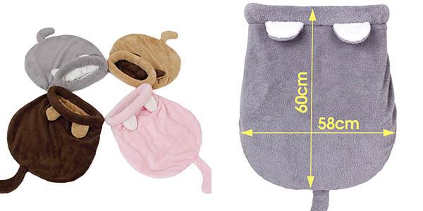 Cama saco de dormir para gatos en varios colores