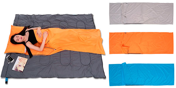 Saco de dormir plegable con funda para almohada barato
