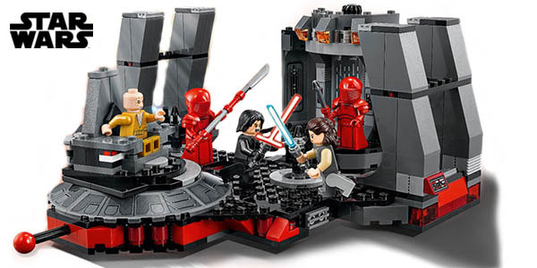 Sala del trono de Snoke de Star Wars tipo LEGO