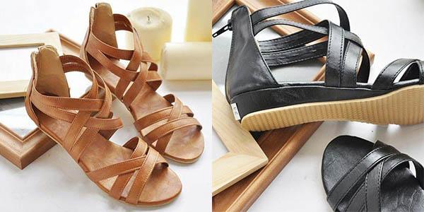 Sandalias de tiras para mujer baratas