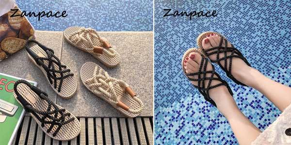 Sandalias de tiras estilo cuerda chollo en AliExpress