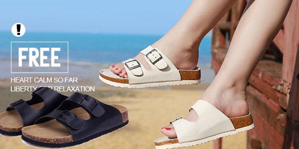 Sandalias estilo Birkenstock en varios colores