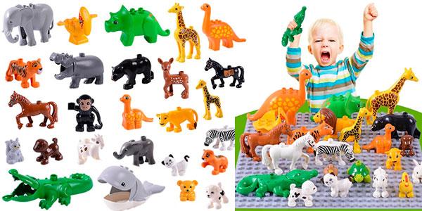 Ganga Figuras animales compatibles con DUPLO en varios tamaños
