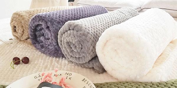 Selección mantas franela de diferentes tamaños chollazo en AliExpress