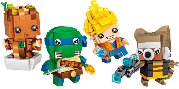 Selección de personajes cabezones Brick Headz de tipo LEGO en oferta