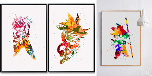 Selección de posters de Dragon Ball en varios tamaños