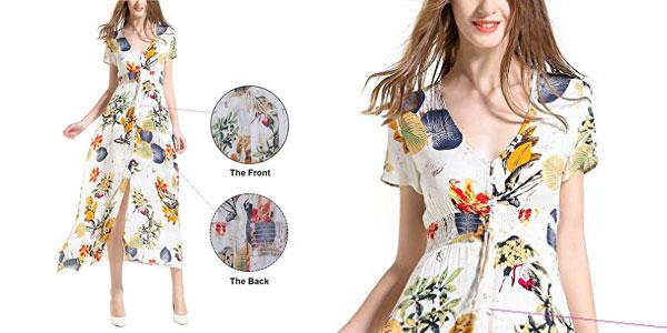 Selección Vestidos maxi largos con manga corta chollo en AliExpress