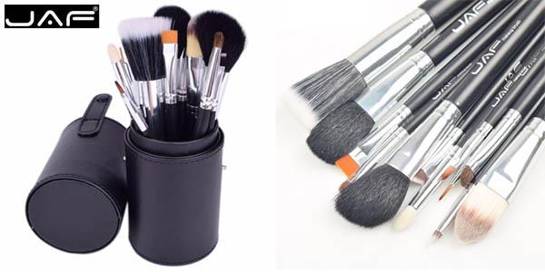 Set de 12 pinceles de maquillaje con estuche tubo de cuero chollo en AliExpress