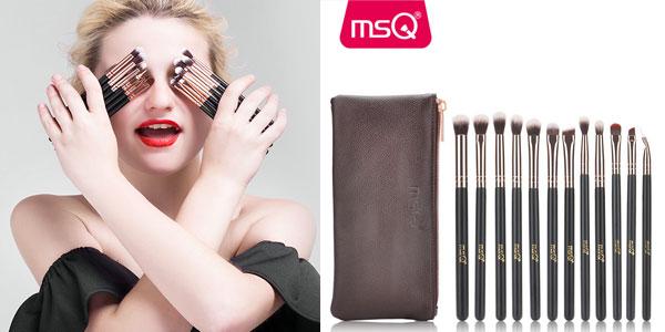 Set de 12 pinceles de maquillaje MSQ con estuche barato