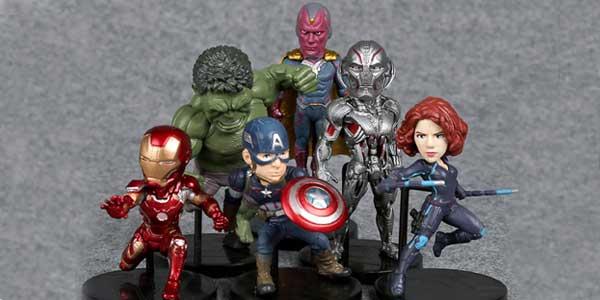 Pack 6 mini-figuras de Los Vengadores Marvel chollo en AliExpress