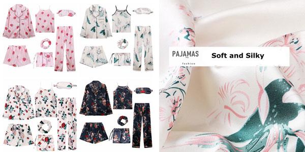 Conjunto pijama de 7 piezas para mujer chollo en AliExpress